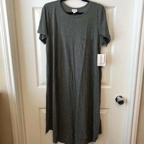 6be7e4e05f47 LuLaRoe Dresses | Bnwt Xl Carly Gray Tshirt Super Soft | Poshmark